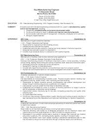 Manufacturing Engineer Resume Template Best of Manufacturing Engineer Sample Resumes Fastlunchrockco