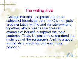 Narrative Essay On Friendship Essay Article About Friendship