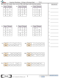 Patterns Function Machine Worksheets Free Commoncoresheets