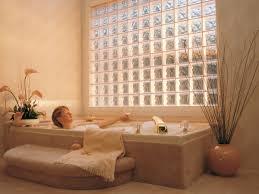 Acrylic Block Fixed Window Over Tub In Bathroom Bathroom Ideas By - Decorative glass windows for bathrooms
