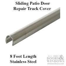 track cover patio sliding glass door 96 inch stainless steel sliding patio door repair track