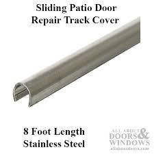 track cover patio sliding glass door 96 inch stainless steel