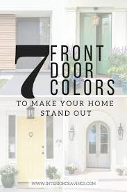 inside front door colors. 7 FRONT DOOR COLORS - Inspiration Images And Paint Color Listed Inside Front Door Colors