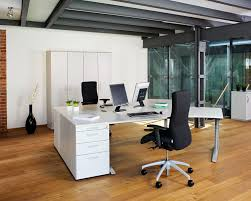 nice cool office layouts. Casual Window Facing Dark Brown Cool Office Furniture On White Wooden Floor And Big Plus Flower Decor In With Nice Layouts