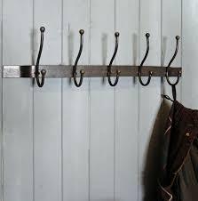 bowley  jackson bruges black metal triple wall mounted coat hooks