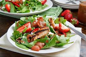 grilled chicken salad with strawberries. Interesting Grilled Strawberry And Balsamic Grilled Chicken Salad For With Strawberries L