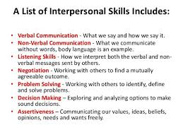 Interpersonal Relationships Skills In Interpersonal Relationships Interpersonal