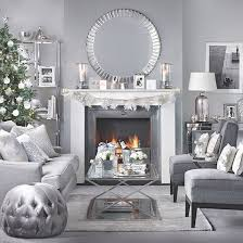 Silver and grey Christmas living room | Living room decorating | Ideal Home  | Housetohome.