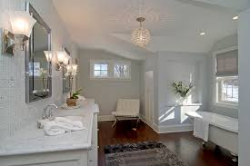 fabulous chandelier bathroom lighting and crystal ball chandelier bathroom contemporary with barcelona chair