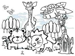 Forest Animal Coloring Page The Best Animal Print Coloring Pages Image Collections Animal