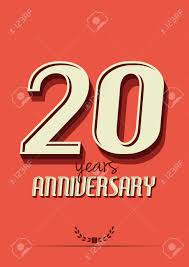 anniversary poster template 20 years anniversary poster template royalty free cliparts vectors