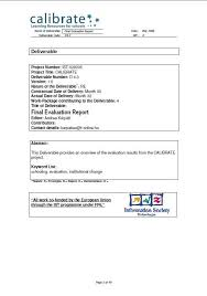 Evaluation Report Classy CALIBRATE Final Evaluation Report ICT In Education Policy Platform