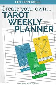 Pdf Printable Undated Tarot Weekly Planner From The Simple Tarot With Tarot Spreads And Weekly Spreads