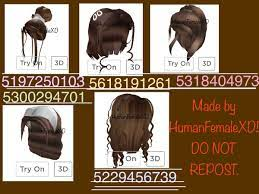 You can see all codes and for more item codes you need to click here. Brown Hair Roblox Codes Roblox Codes Roblox Hair Codes