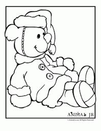 Christmas Coloring Pages Printable Christmas Bears Animal Jr