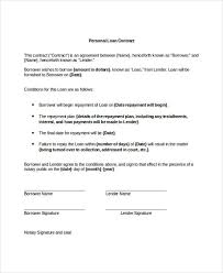 Loan Repayment Contract Sample Central Templates Delectable Loan Repayment Contract Free Template