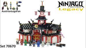Lego Ninjago Legacy 70670 Monastery of Spinjitzu Speed Build - YouTube