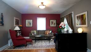 decor picture s living apartment red wall designs interior style decorating styles ideas black frames dark