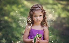 Wallpaper Cute little girl, wings ...