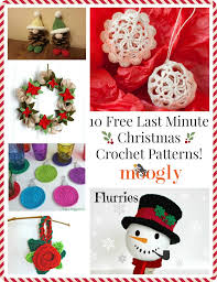 Free Christmas Crochet Patterns Simple 48 Free Last Minute Christmas Crochet Patterns Moogly
