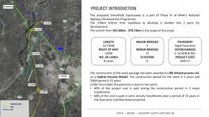 The ministry is currently working on a super expressway that will make every road trip between delhi and mumbai a dream come true. Vadodara Mumbai Expressway Cept Portfolio