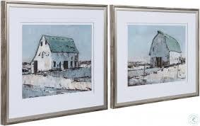 plein air barns framed print wall art