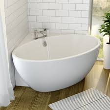 affine fontaine corner freestanding bath 1510mm x 935mm with built in waste