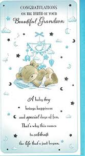 Congratulate On New Baby New Baby Grandson Card Baby Boy Congratulations On The Birth Of