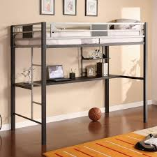 bunk bed office underneath. This Slim, Minimalist Metal Creation Sports Geometric Framing On The Top Bunk And A Slim Bed Office Underneath O