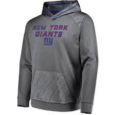 Fuse New Hoodie Geo Men's Performance York Nfl Gray Giants Embossed