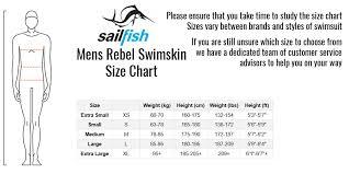 Sailfish Wetsuit Size Chart Sailfish Mens Rebel Team Swimskin
