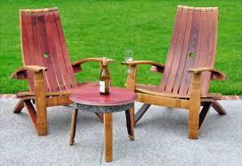 wine barrell furniture. Exellent Barrell Wine Barrel Adirondack Chair With Barrell Furniture