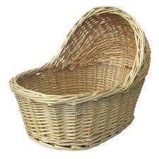 nap01240 cute natural wicker crib gift basket small 17cm x 12cm