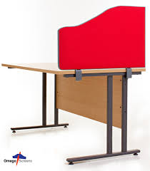 easyfix desk clamps shown with an omega wave style desk divider
