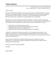 Cover Letter Examples For Sales Associate Sales Management Cover Letter Vitadance Me