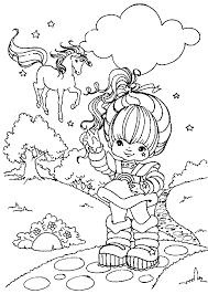 Small Picture Rainbow Brite Colour me wonderful Colouring Pages Pinterest