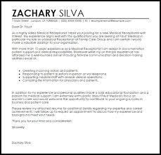 Medical Receptionist Cover Letter Ingyenoltoztetosjatekok Com