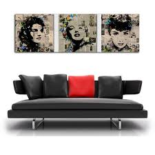 2018 marilyn monroe and audrey hepburn canvas prints wall art oil painting home decor unframed framed from chai2018 16 24 dhgate com