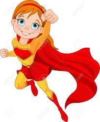 Illustration De Fille Super Hero Chez La Mouche Clip Art Libres De