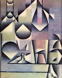 bottle and pitcher 1912 juan gris oil painting