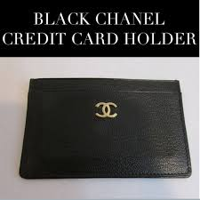 chanel card holder. chanel business card holder 13 off accessories black leather credit template