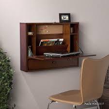 com southern enterprises wall mount folding laptop desk brown gany finish kitchen dining