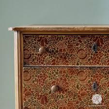 pattern furniture. Francesca Floral Damask Furniture Stencil Pattern