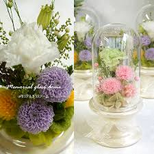 preserved flower buddha flower glass dome dome mini first bon offering present offering flower small