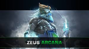 dota 2 zeus arcana tempest helm of the thundergod youtube