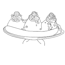 Small Picture Favorite Banana Split Coloring Pages Best Place to Color