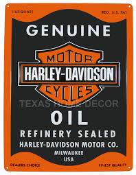 Harley Davidson Signs Decor Harley Davidson Embossed Tin Metal Sign Oil Can Shield Logo Biker 1
