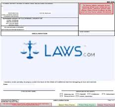 declaration form mc 030 form mc 030 declaration california forms laws com