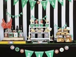 Super Bowl Party Decorating Ideas diysuperbowltable Entertaining Super Bowl Party Pinterest 22