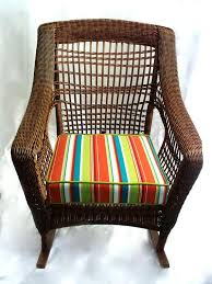 rocking chair seat cushion cover wicker